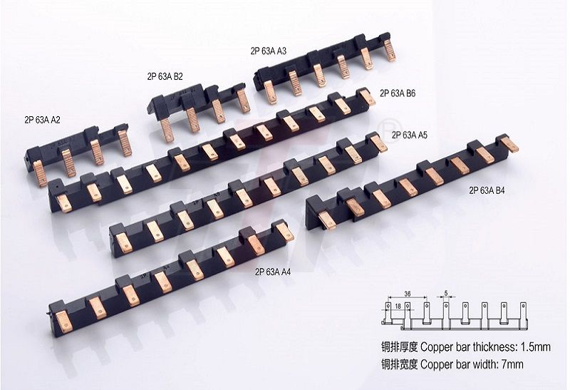 2P 63A Combinated Electrical Busbar GK702-63A
