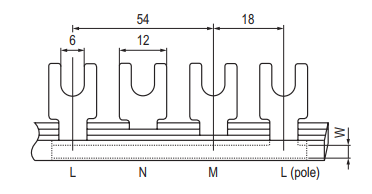 Fork Type Busbar GK303 Series