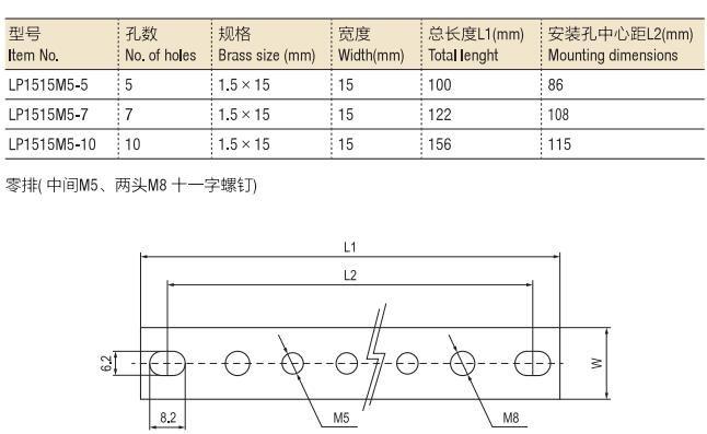 Neutral Link 1.5*15